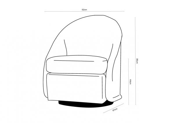 Beak Swivel Chair Dimensions