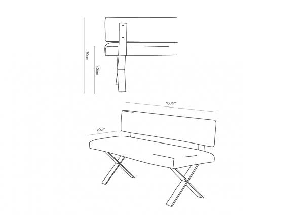 Criss Cross Bench Dimensions