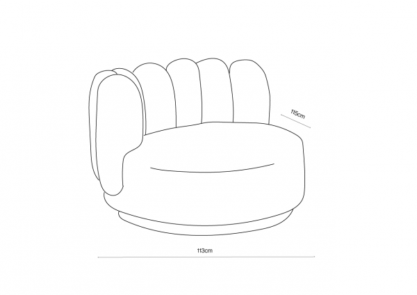 Polar Chair Dimensions Front