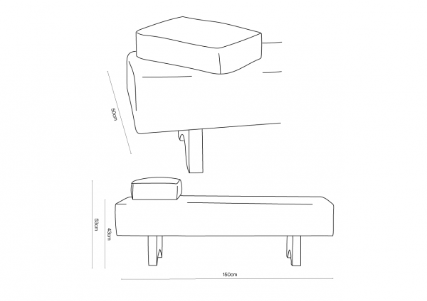 Toucan Daybed Dimensions