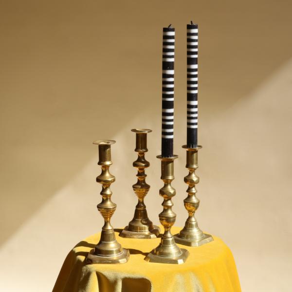 Brass-Candlestick-Setof4-Sister-Studio-Ashby
