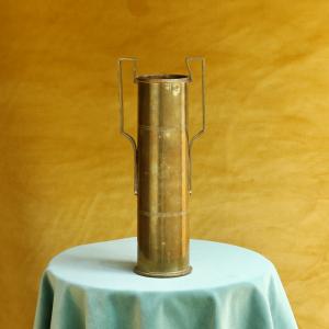 Hercules Brass Vase