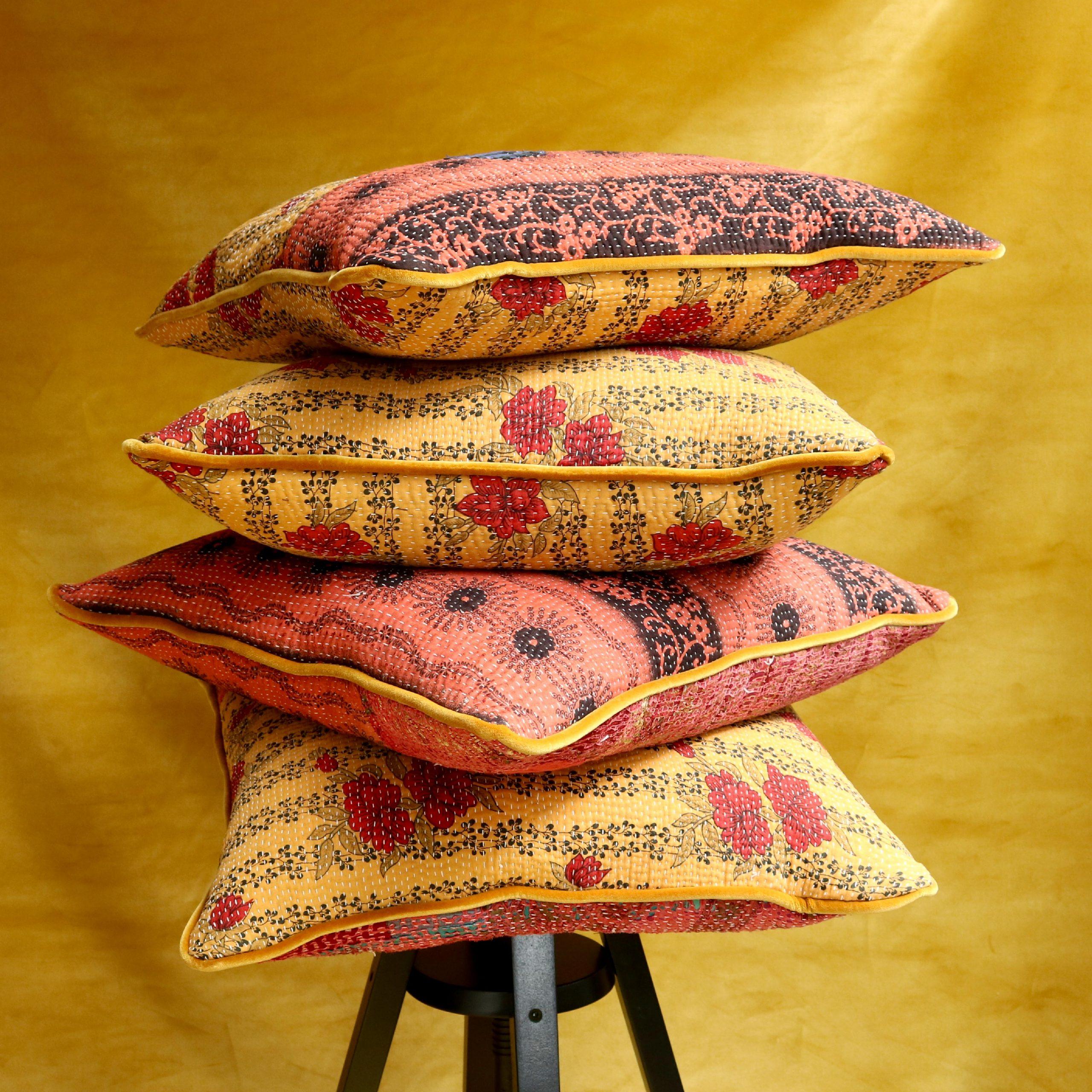 Kantha-Quilt-Cushions-Rose-Sister-Studio-Ashby