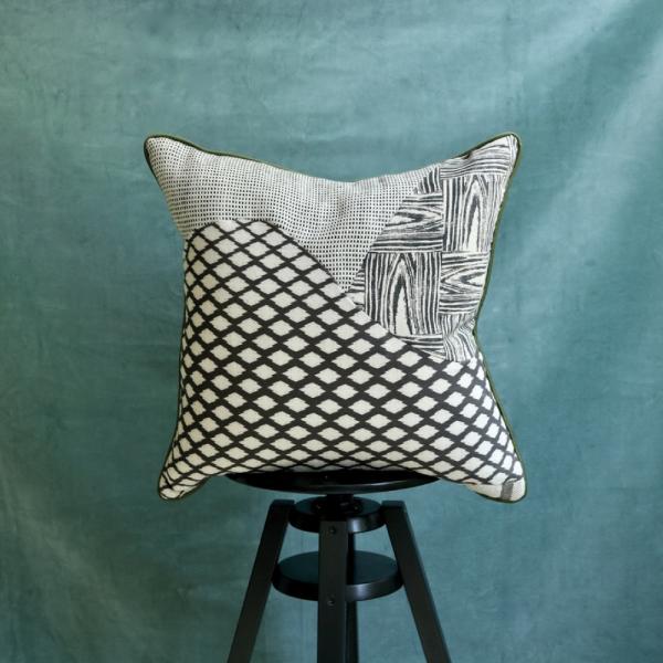 """ Monochrome Patchwork Cushions"""