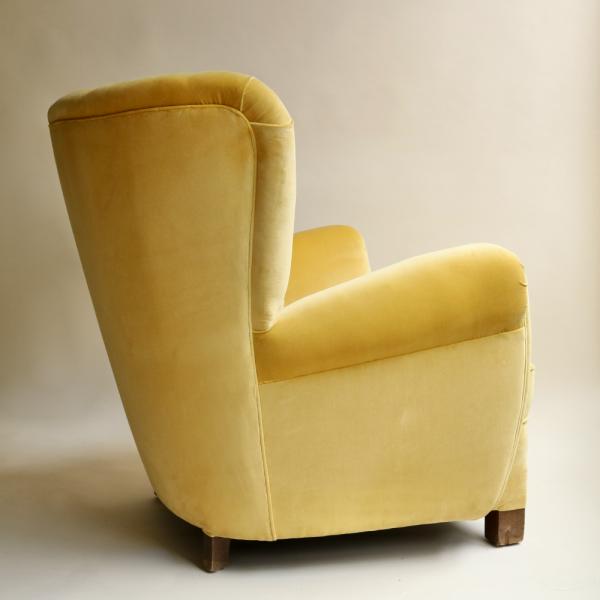 Yellow-Velvet-WingedBack-Chair-Sister-StudioAshby